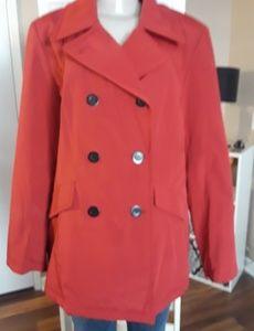 Red Liz Claiborne Crazy Horse Jacket  Size Large